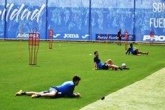 Tras el parón de 60 días de videollamadas y video-entrenamientos individualizados, el pasado 11 de mayo los jugadores han vuelto a saltar al césped del estadio Fernando Torres.