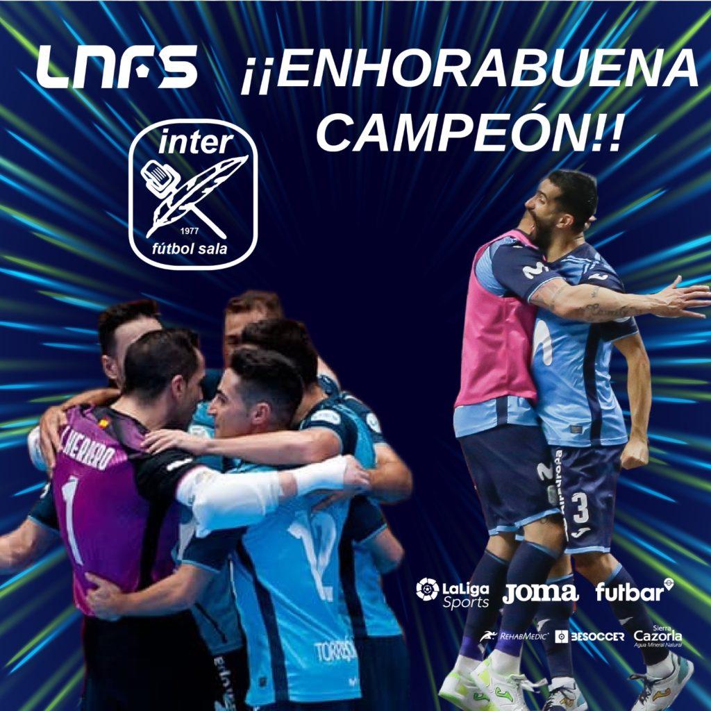 Movistar Inter se corona campeón de liga 2019/20
