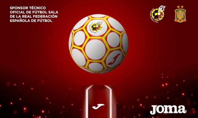La RFEF y Joma presentan el balón oficial de los play-off de fútbol sala