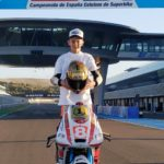 El piloto mostoleño Marco García, Campeón de España de Superbikes prepara la temporada.