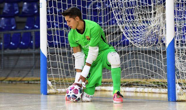 Oscar de la Faya, portero del FC Barcelona