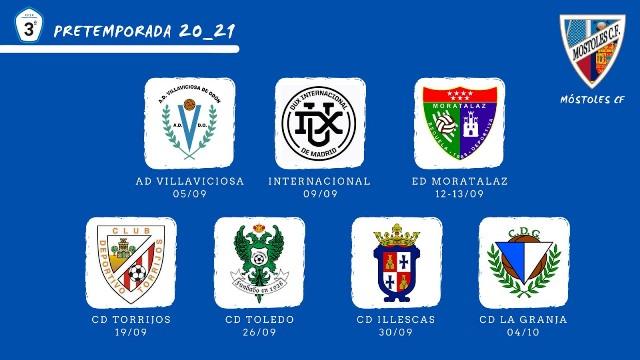 El Móstoles CF presenta su calendario de partidos amistosos de pretemporada