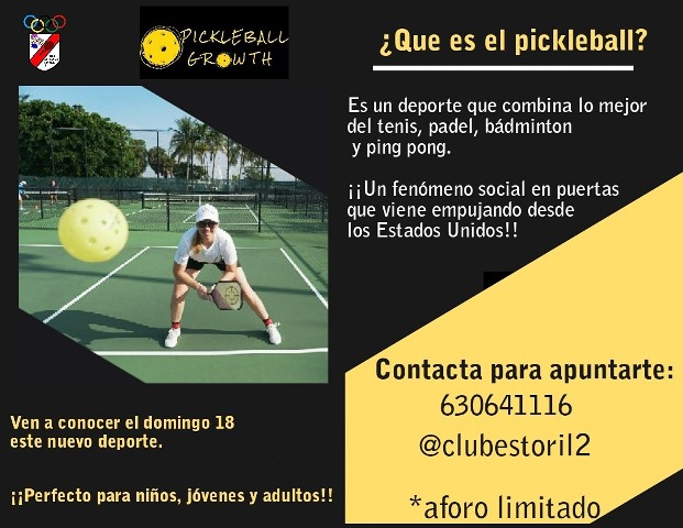 PICKLEBALL GROWTH EN EL CD ESTORIL-II