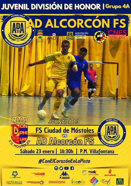Ciudad de Mostoles y Ciudad de Alcorcón, derbi sureño en la categoría D.H. Juvenil de fútbol sala.