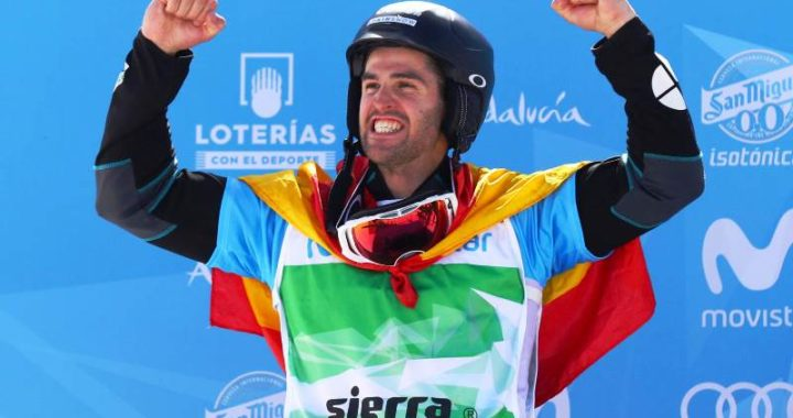 Lucas Eguibar, campeón del mundo de snowboard cross