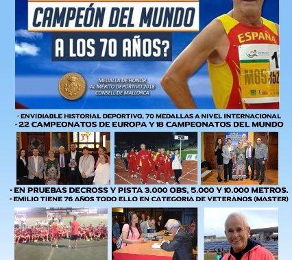 Emilio de la Cámara Perona, (campeón del mundo a los 70 años)