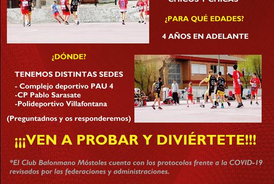 """juega con nosotros """"Club Balonmano Móstoles"""""""