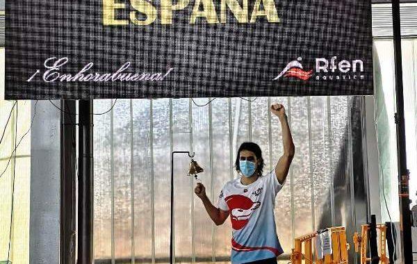 La A.D. Natación Móstoles bate el Record de España en 200m espalda en Castellón.