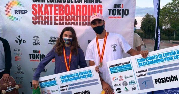 Danny León revalida el título de campeón de España en la modalidad Park de Skateboarding en Camas.