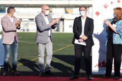 El técnico jienense 'tendrá' su propio terreno de juego en uno de los anexos a Santo Domingo.                  La ciudad de Alcorcón homenajea a Anquela y le pone su nombre a un campo de fútbol.