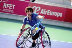 El tenista paralímpico Daniel Caverzaschi, campeón de España por tercera vez.